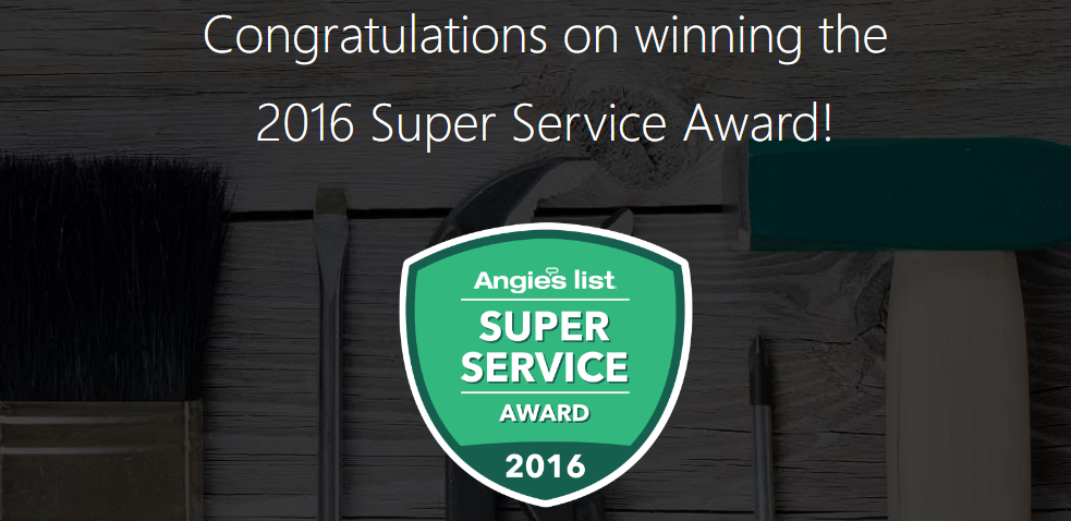 Broadbent Construction Earns Esteemed 2016 Angie's List Super Service Award